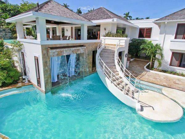 Dream House With Pool And Slide Real Estate CRM H O M E
