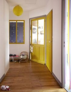 House also bright and sunny hallway interior home pinterest yellow rh