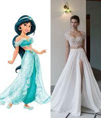 Modern wedding dresses for every Disney princess | Jasmine ...