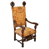 Wonderful Spanish Revival Throne Chair | Throne chair ...