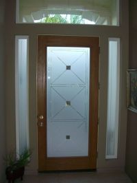 etched glass entry door windows frosted | Front Doors ...