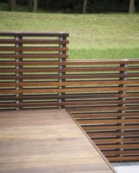 contemporary metal railing