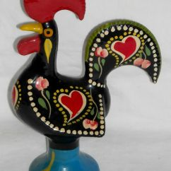 Rooster Statue For Kitchen Kemper Cabinets Portugese Good Luck Metal Figurine 7 Quot Galo