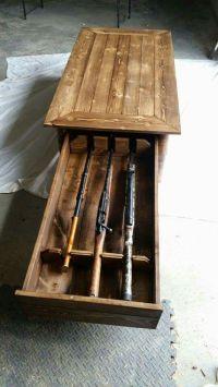 Coffee table hidden gun rack https://m.facebook.com/Robs ...