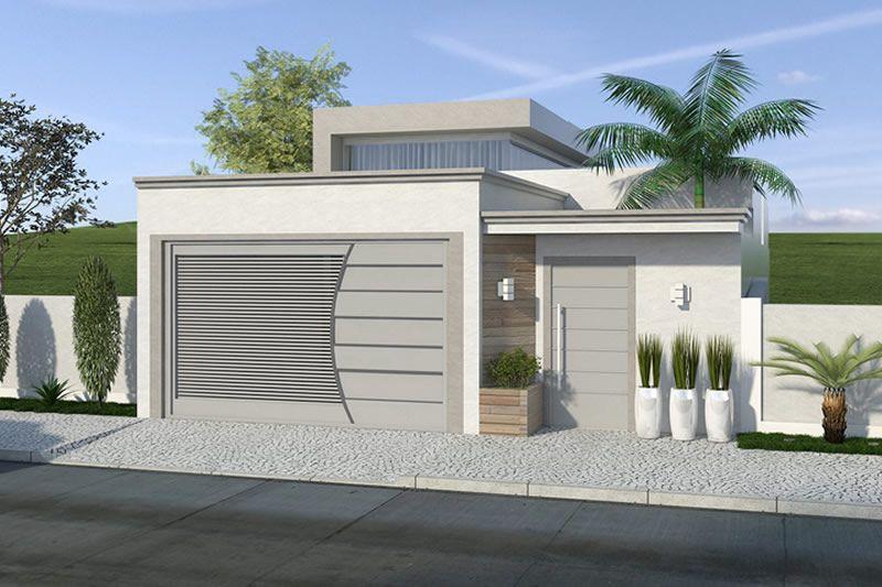 Planta de casa com p direito alto de vidro  Projetos de Casas Modelos de Casas e Fachadas de