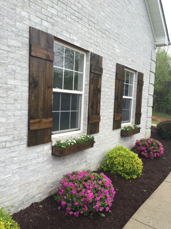 Farmhouse Board And Batten Shutters A Perfect Way To Add Curb