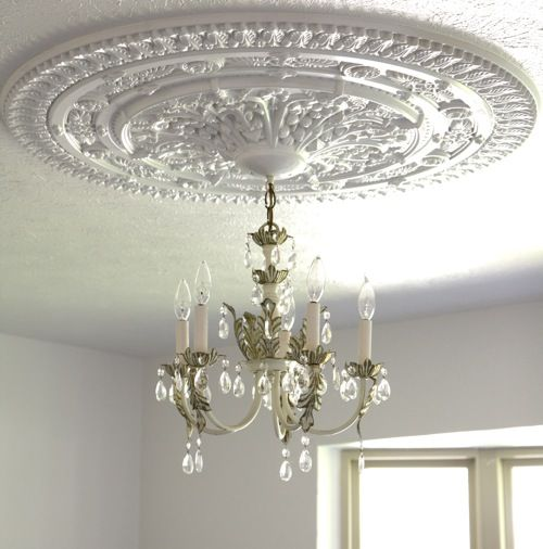 Brass Chandelier How To Install A Ceiling Medallion