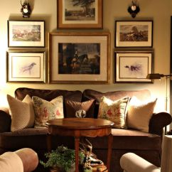 Primitive Country Living Room Colors Cabin Ideas English Mix Room, Roe Deer Antlers, Gallery Wall ...