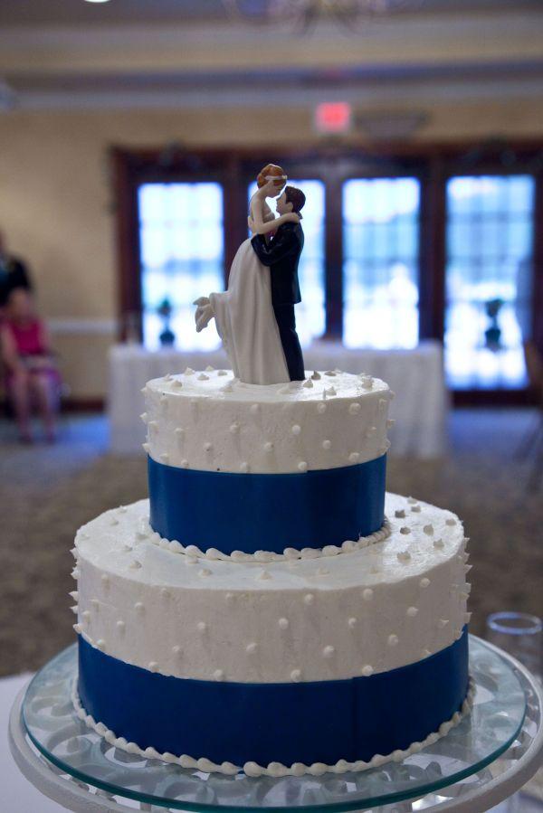 Chocolate Wedding Cake. Blue Ribbon With