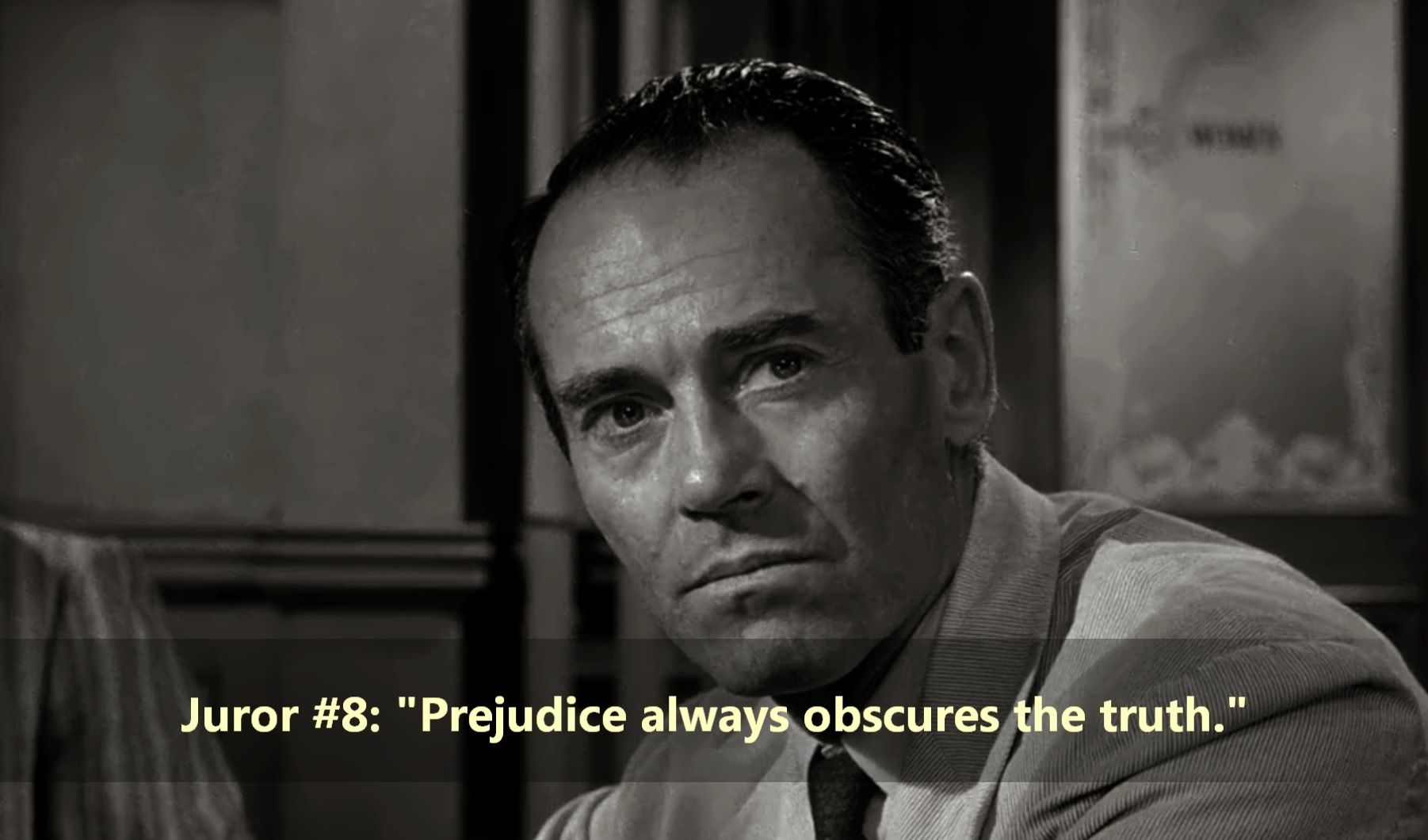 12 Angry Men Juror 8 Henry Fonda It S Always Difficult To Keep Personal Prejudice