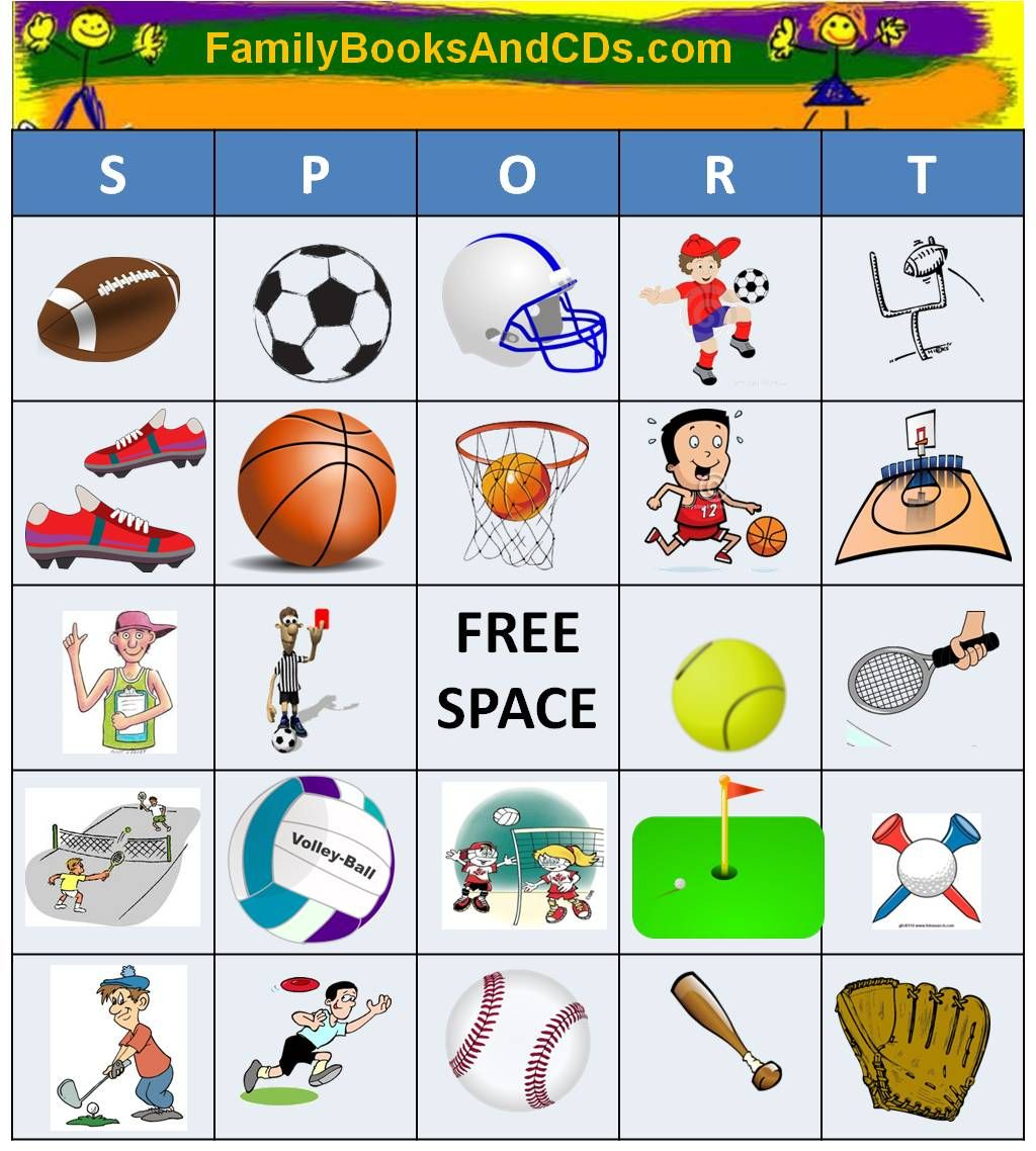Free Printable For Sport Bingo Click Here To Print