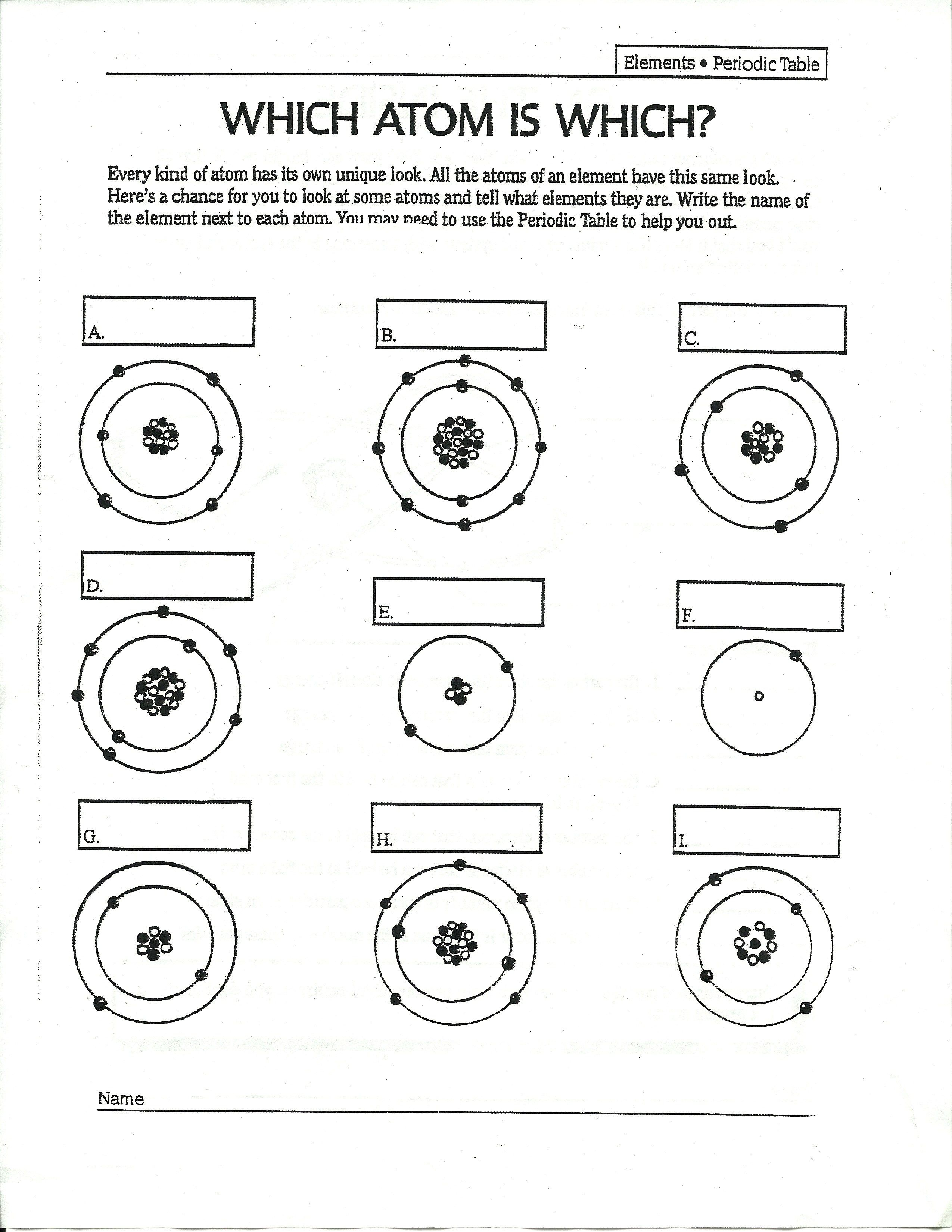 Answers To Drawing Atoms Worksheet
