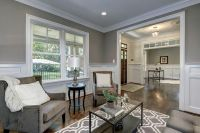 Craftsman Living Room with Carpet, Switch Coffee Table ...