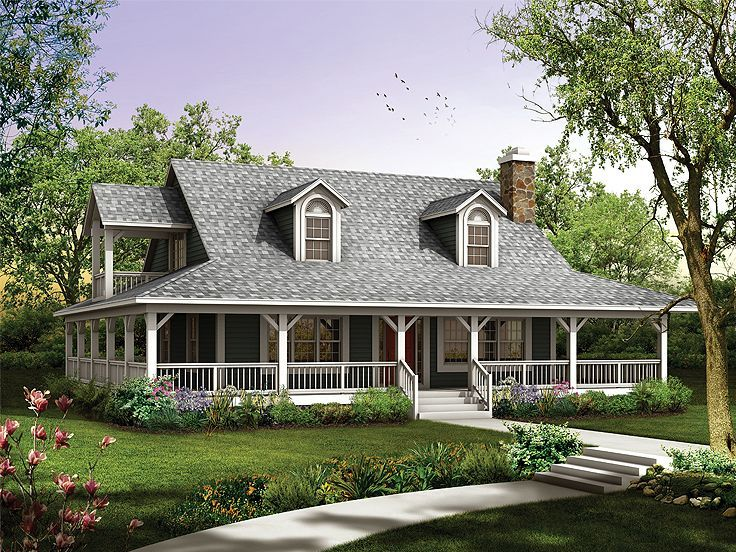 This Is My Dream Home! I Love This Country Style With The Big Wrap