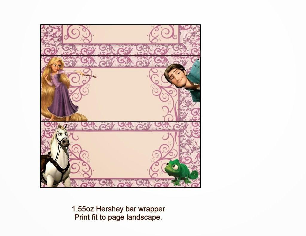 Tangled Rapunzel Free Printable Chocolate Labels
