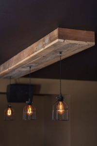 Reclaimed barn wood light fixtures//bar//restaurant //home