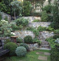 Love this tiered #stone #retainingwall - multi-level ...