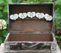Rustic Wedding Card Box Program Holder Shabby by