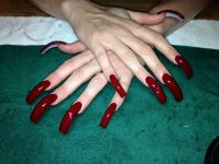 Very Long Red Nails Pictures to Pin on Pinterest - ThePinsta