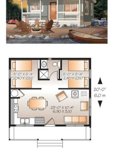 Slide the bathroom over and expand for  bedroom tiny house plan also  be cccb  fd  pixels home rh pinterest