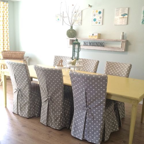 New parsons chair slipcovers for my dining room Stop