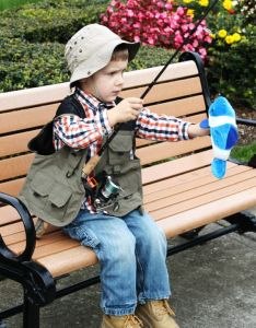 Fisherman costume tutorial easy  no sew inexpensive halloween costumeslittle boy also game pinterest and costumes rh