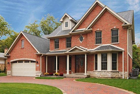 Modern Brick House Design Peaceful House Design With Natural