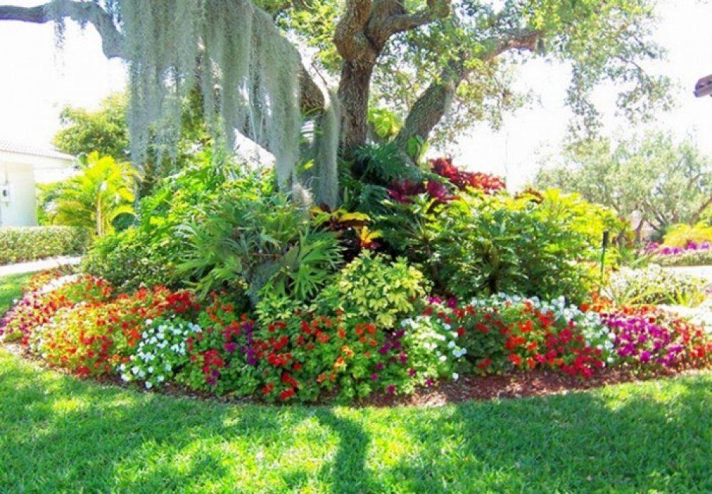 Abundant Landscaping Around Trees Pinteres