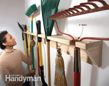 Garage Storage DIY Tips And Hints Gardens The Family Handyman