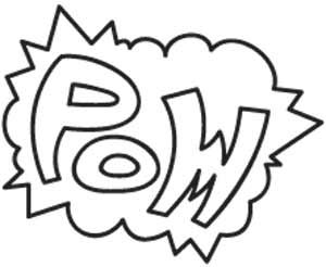 Biff! Bang! Pow! This little design packs a lot of old