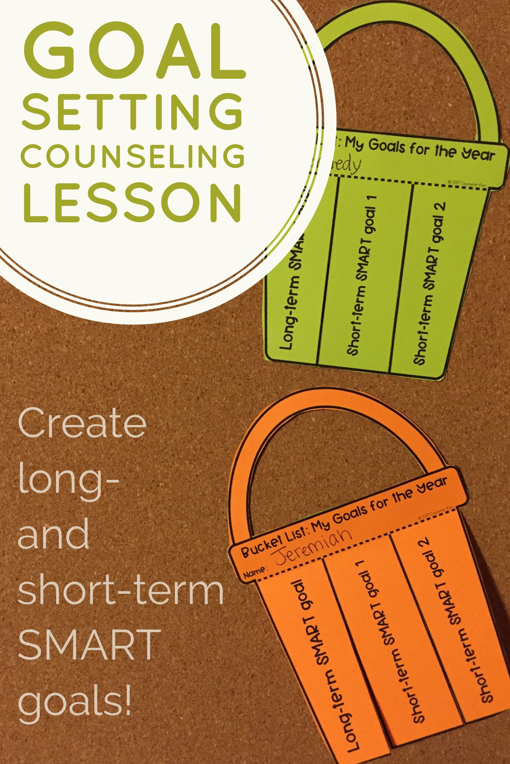 Smart Goal Setting Long And Short Term Goals Classroom
