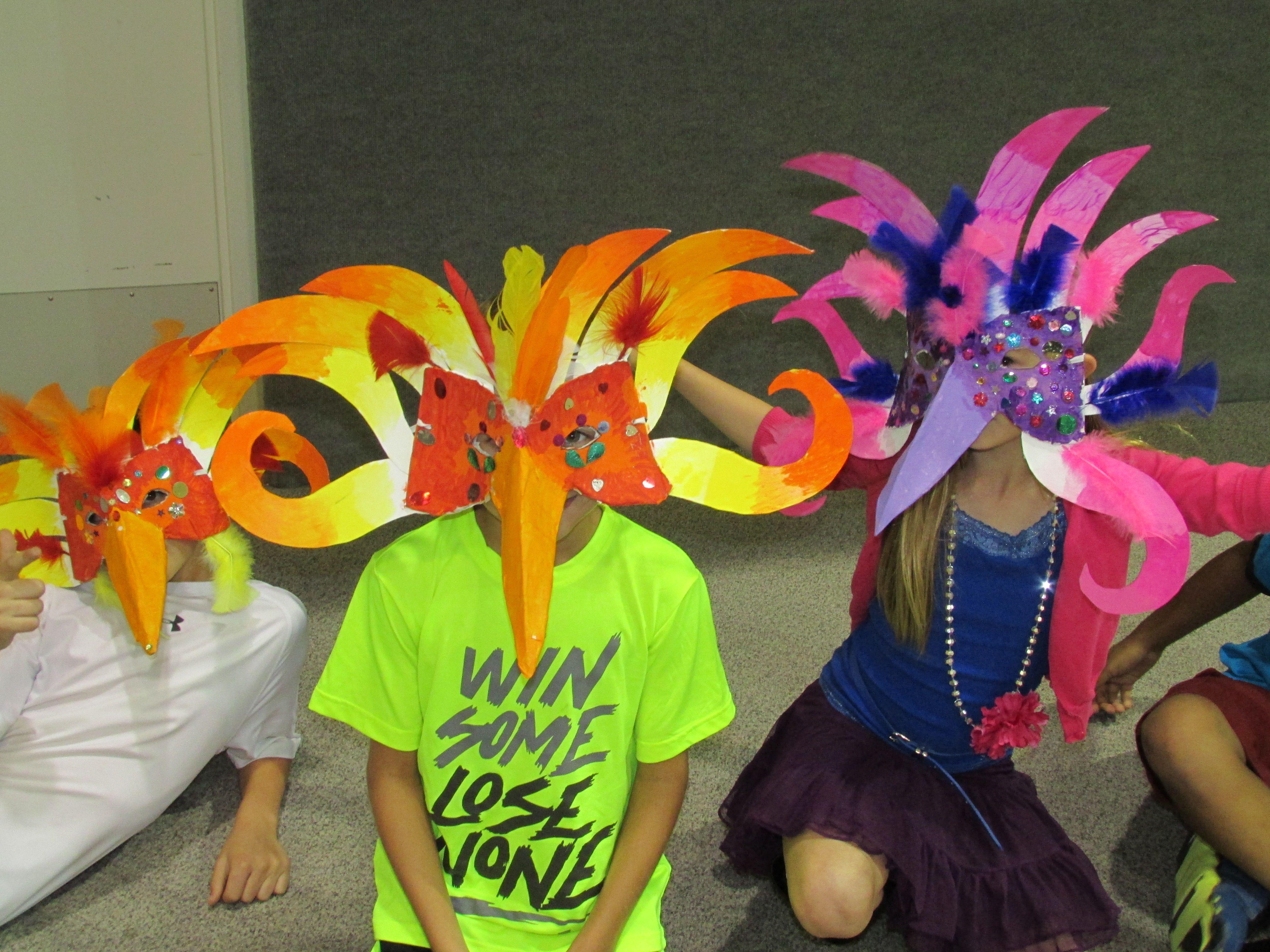 Paper Mache Brazilian Carnival Bird Mask By My 3rd Grade Students Lesson By Art Teacher Susan