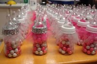 Tutu Baby Shower Favor Bottles; Tiffany Girls Baby Shower