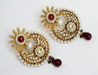 Designer Halfmoon Earring  Indian Imitation Jewellery ...