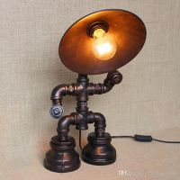 Vintage Water Table Lamps Water Pipe Table Lamp Edison ...