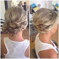 Bridal hair, wedding hair, side bun, curly bun, side swept ...