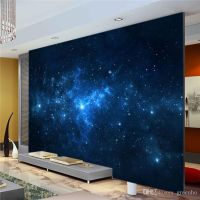 Blue Galaxy Wall Mural Beautiful NightSky photo wallpaper