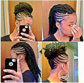 BRAIDS TWIST PROTECTIVE HAIRSTYLE HAIR DO HAIRSTYLE UP