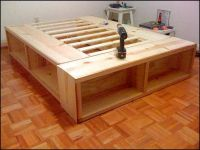Full Size Bed Frame With Storage Plans | Woodworking ...