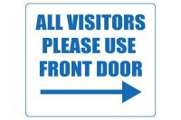 Printable All Visitors Please Use Front Door Sign ...