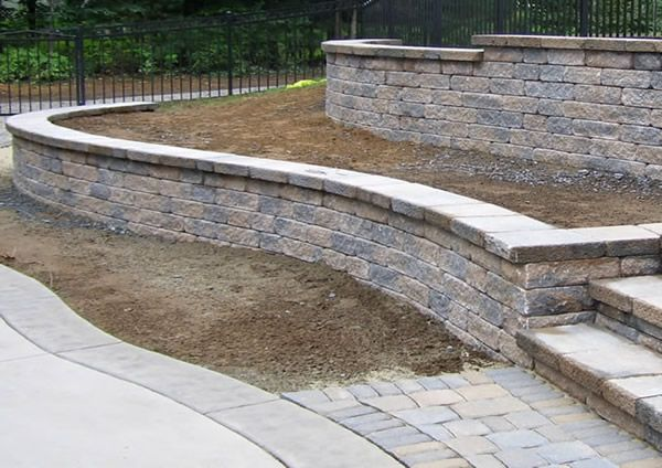 retaining wall ideas with slope