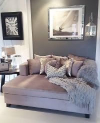 Love this mauve, gray, and white color scheme for the ...
