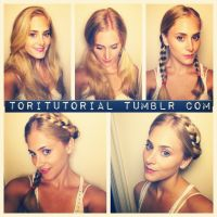 German Braid 1) Part hair all the way down your head as if ...