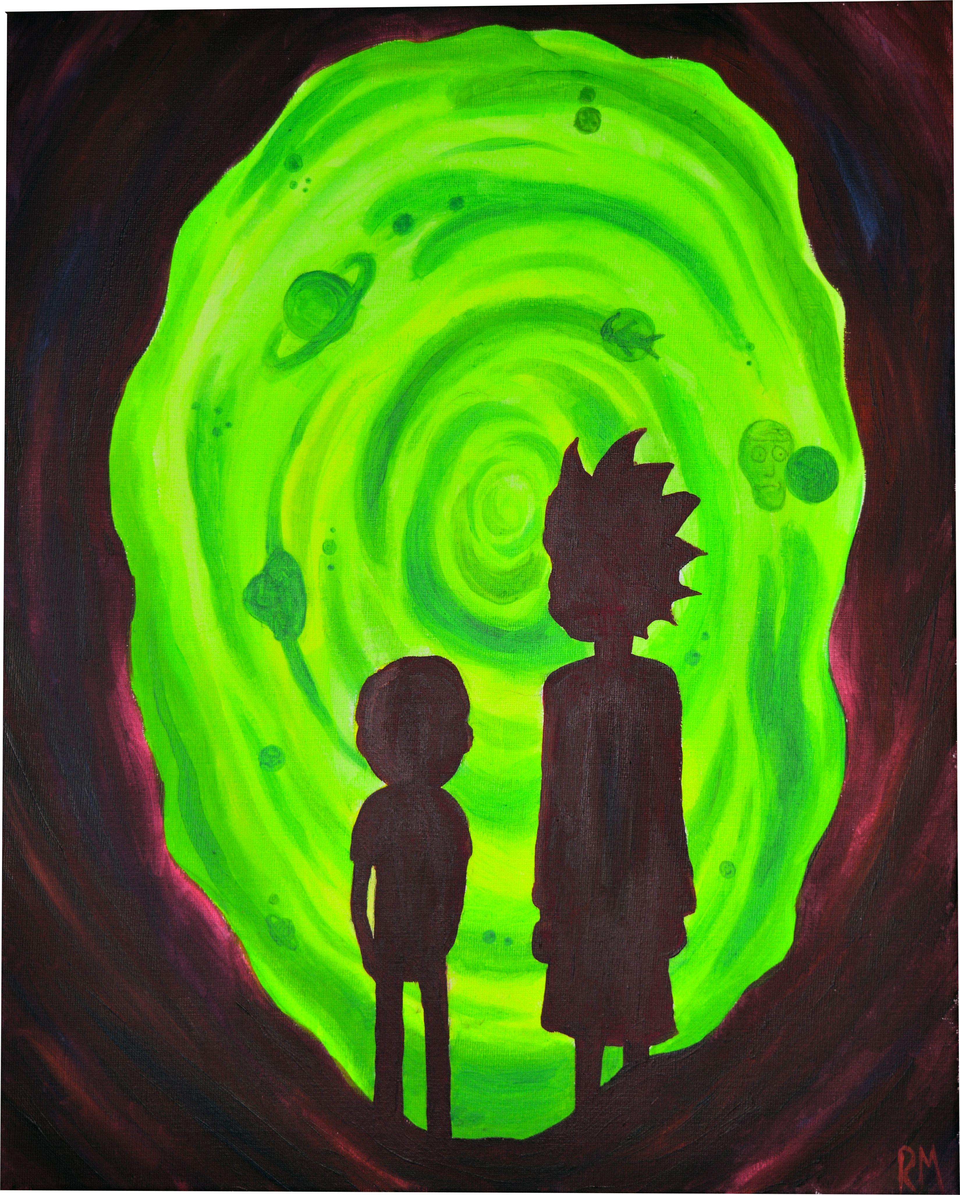 Gravity Falls Wallpaper Dump Rick And Morty Ft Portal Acrylic 16 Quot X 20 Quot Art