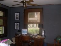 Blue Wall with Dark Wood Trim | For the Home | Pinterest ...