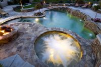 Spa/Pool/Fire pit landscape layout This pin/re-pin is ...