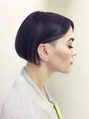 chin-length bob subtle undercut