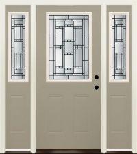 "Mastercraft Venice 36"" x 80"" Prefinished Steel Door w/ 14 ..."