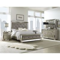 Celine 5-piece Mirrored and Upholstered Tufted King-size ...