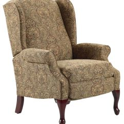 Traditional Leather Wingback Chair Back Support For Recliners Hampton High Leg Recliner In Wing